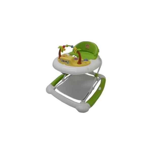 正規品 歩行器 ベビーウォーカーZOO グリーン JTC ジェーティーシー まあるい歩行器 シンプル 乗用 おもちゃ つたい歩き 折りたたみ 誕生日プレゼント kids baby