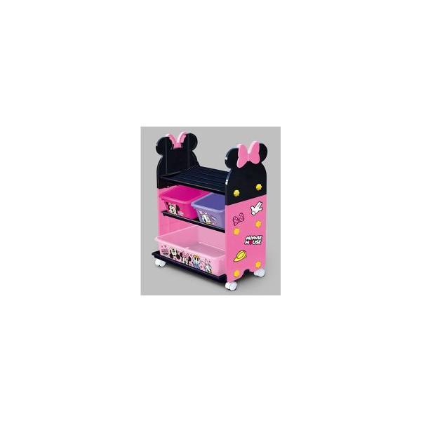 おもちゃ箱  ミニーマウストイステーション おもちゃ箱 錦化成 nishiki kasei 女の子 Disney バケツ 収納 おかたづけ 物入れ 家具 子供用 【ギフト包装不可】|pinkybabys