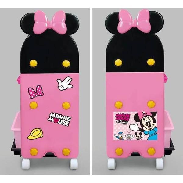 おもちゃ箱  ミニーマウストイステーション おもちゃ箱 錦化成 nishiki kasei 女の子 Disney バケツ 収納 おかたづけ 物入れ 家具 子供用 【ギフト包装不可】|pinkybabys|02