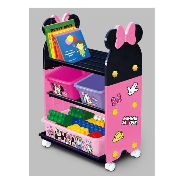 おもちゃ箱  ミニーマウストイステーション おもちゃ箱 錦化成 nishiki kasei 女の子 Disney バケツ 収納 おかたづけ 物入れ 家具 子供用 【ギフト包装不可】|pinkybabys|03