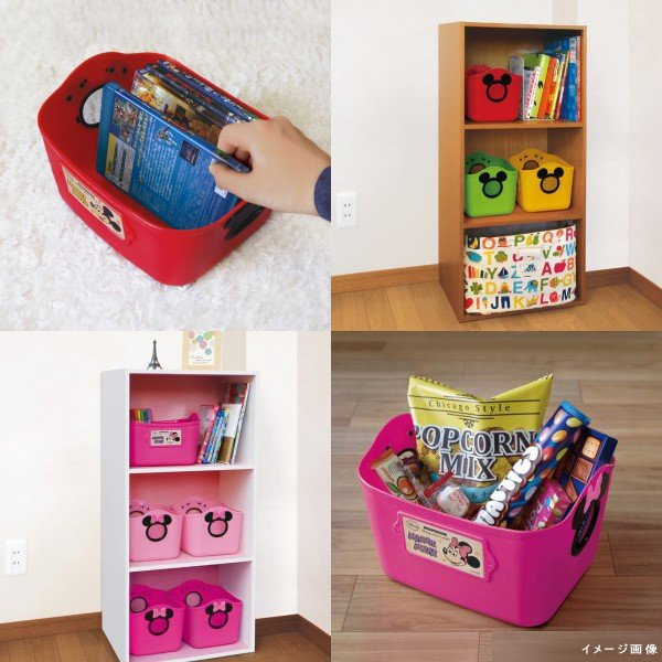 ギフト包装不可 おもちゃ箱 収納 やわらかバケツ SQ5 四角 錦化成 洗濯カゴ ベビー ディズニー Disney ボックス カラーボックス プレゼント ギフト|pinkybabys|02