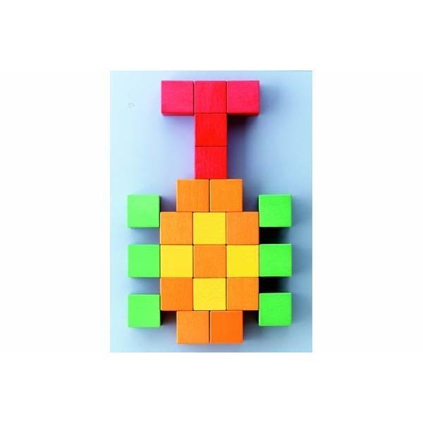 知育玩具図形キューブつみき くもん出版 KUMON 公文 学習玩具 おもちゃ 積木 ブロック 木製 育児 誕生日 ギフト お祝い プレゼント キッズ 子ども 男の子 女の子|pinkybabys|05