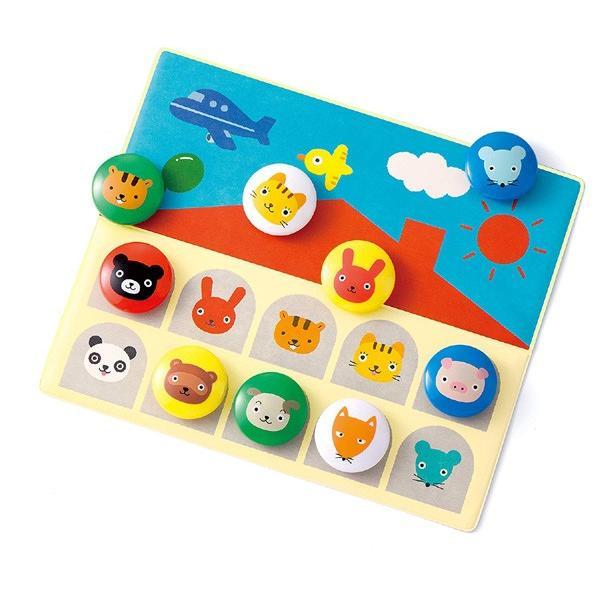 知育玩具 くろくまくんの絵あわせあそび マグネットでぴったん! くもん出版 KUMON おもちゃ パズル 指先 色合わせ ベビー キッズ 誕生日 ギフト プレゼント pinkybabys 03