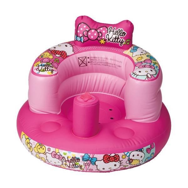 ベビーバスチェア ハローキティ おふろでもおへやでも使えるやわらかチェアー アガツマ ピノチオ サンリオ ベビー キッズ 室内 浴室 バス用品 キッズチェア ママ|pinkybabys|02