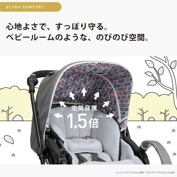 ベビーカー A型 ホワイトレーベル スゴカルアルファ 4キャス コンパクト エッグショック HT590 コンビ 赤ちゃん 孫 baby ストローラー 出産祝 一部地域 送料無料 pinkybabys 18