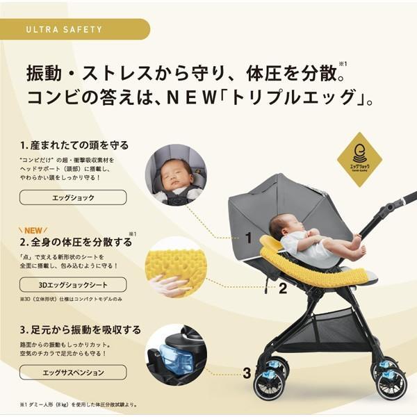 ベビーカー A型 ホワイトレーベル スゴカルアルファ 4キャス コンパクト エッグショック HT590 コンビ 赤ちゃん 孫 baby ストローラー 出産祝 一部地域 送料無料 pinkybabys 06