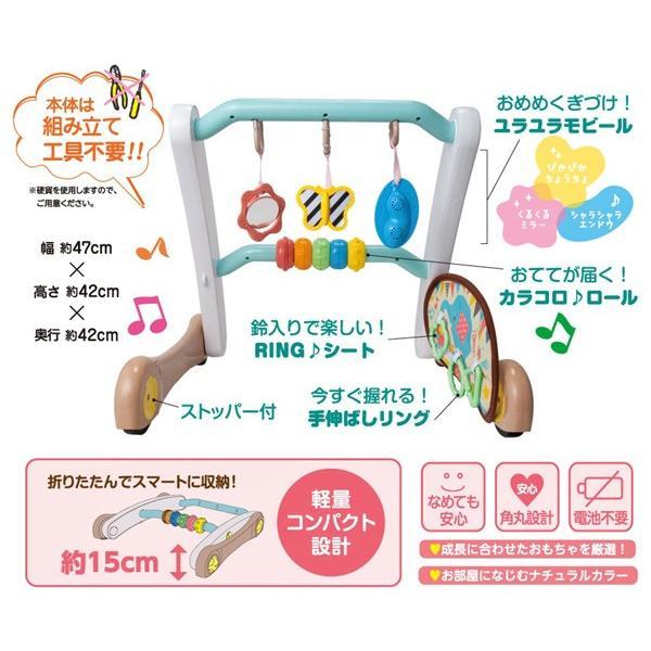 ベビージム うちの赤ちゃん世界一 スマート知育ジム&ウォーカー ピープル おもちゃ 室内遊具 押し車 ベビー キッズ 出産 お祝い プレゼント ギフト SNS|pinkybabys|07