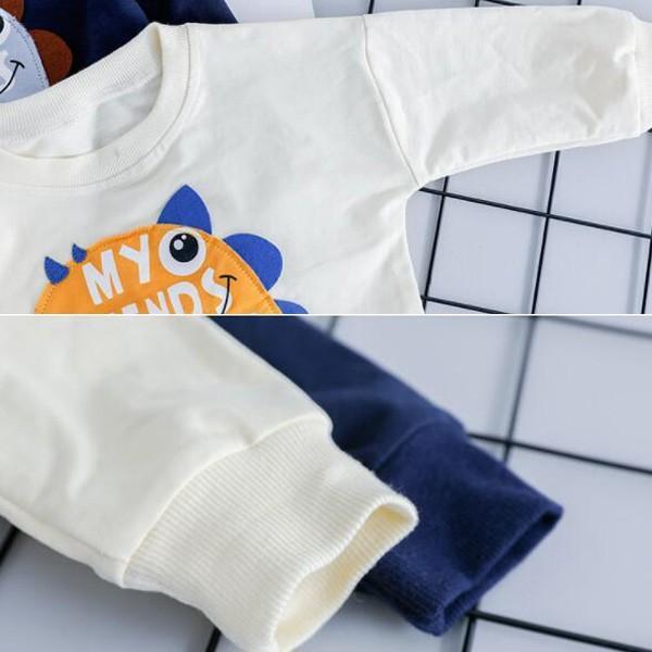子供服 男 ロンT&パンツ 2枚セット 2019年新作 長袖 Tシャツ ジーンズ ダメージデニム セットアップ 男の子向け 80 90 100 1歳ごろ 送料無料 ゆうパケット|pinkybabys|06