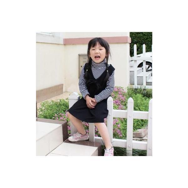子供服 女 サロペットスカート&ロンTセット 上下セット ワンピース 韓国子供服 トップス スカート 長袖 春秋 ベーシック 小さい子向け 80 90 送料無料|pinkybabys|04