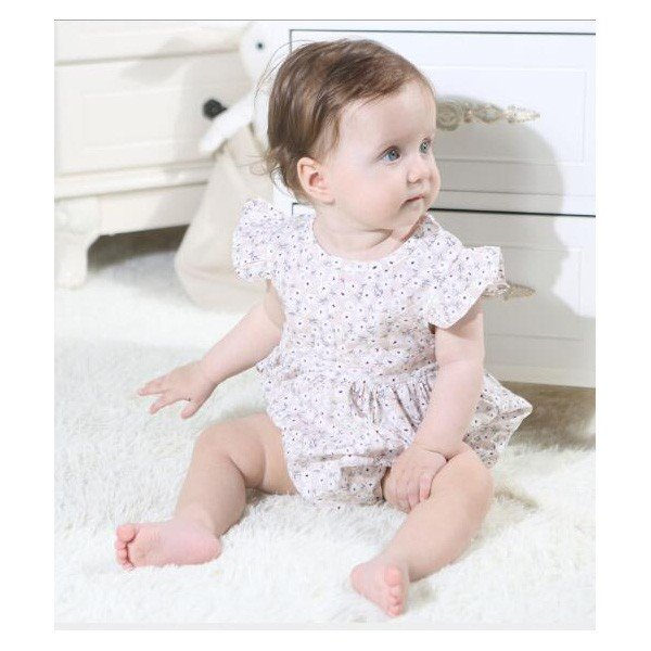 ベビー服 女 ロンパース ボタニカルフラワー 半袖  新作 薄手 夏用 子供服 赤ちゃん おしゃれ着 かわいい おしゃれ プチプラ 70 80 送料無料 ゆうパケット|pinkybabys|04