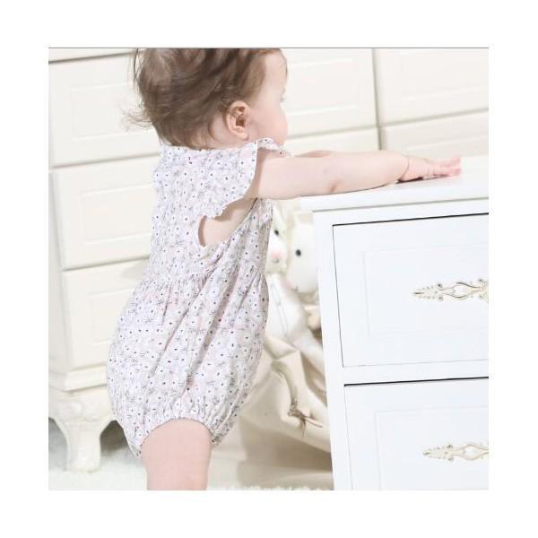 ベビー服 女 ロンパース ボタニカルフラワー 半袖  新作 薄手 夏用 子供服 赤ちゃん おしゃれ着 かわいい おしゃれ プチプラ 70 80 送料無料 ゆうパケット|pinkybabys|05