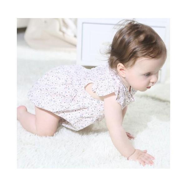 ベビー服 女 ロンパース ボタニカルフラワー 半袖  新作 薄手 夏用 子供服 赤ちゃん おしゃれ着 かわいい おしゃれ プチプラ 70 80 送料無料 ゆうパケット|pinkybabys|06