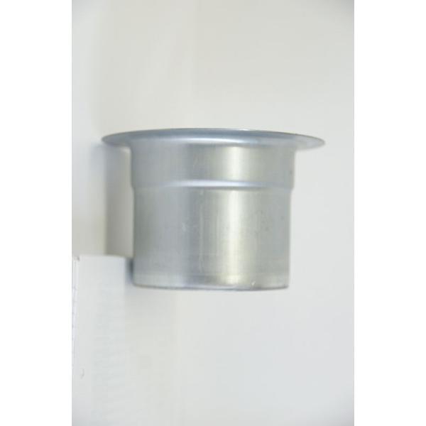 クリモトスパイラルダクト(亜鉛めっき)Tカラー  φ150   【梱包なし】|pipeshop-y