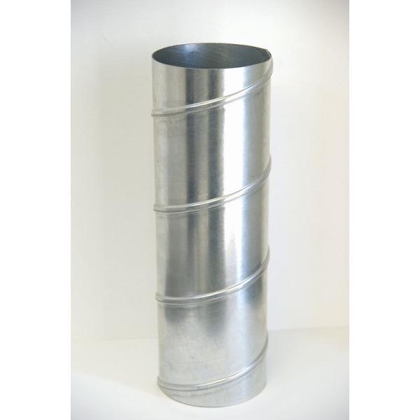 クリモトスパイラルダクト(亜鉛めっき)直管φ150×1000L (mm) 【梱包なし】|pipeshop-y