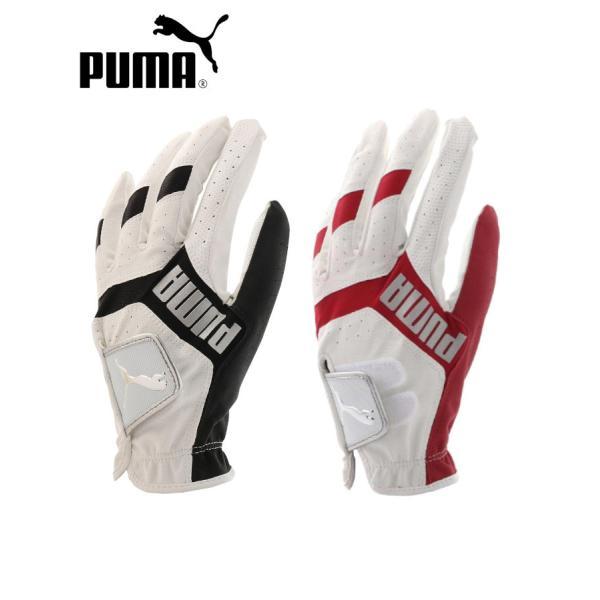 プーマゴルフグローブ867773合成皮革ニット部:ポリエステルポリウレタン/PUMA