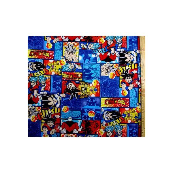 キャラクター 生地 布 ドラゴンボール超 ( スーパー ) ( 紺 ) 柄番号7 ( 2020 - 2021 ) オックス ( 綿100% ) 生地幅−約108cm YUW-20DBS-005-1-kk-6394