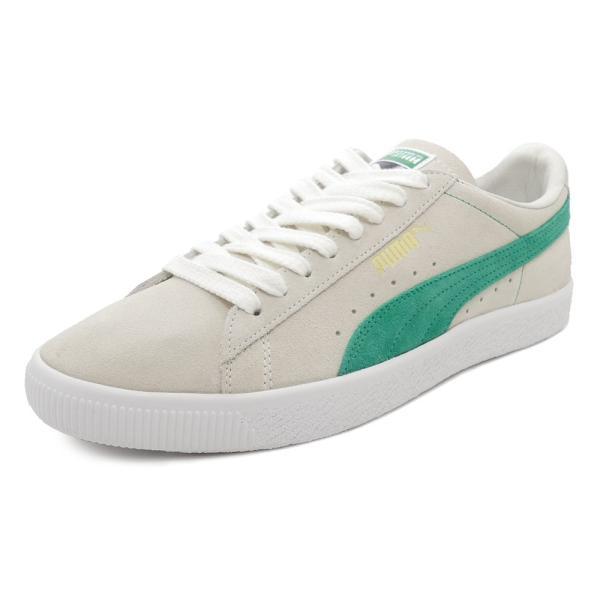 スニーカー プーマ PUMA スウェード90681 ホワイト/グリーン メンズ レディース シューズ 靴 18FA|pistacchio