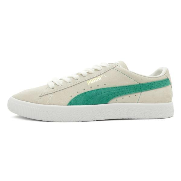 スニーカー プーマ PUMA スウェード90681 ホワイト/グリーン メンズ レディース シューズ 靴 18FA|pistacchio|02