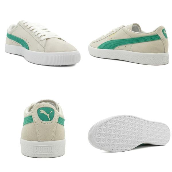 スニーカー プーマ PUMA スウェード90681 ホワイト/グリーン メンズ レディース シューズ 靴 18FA|pistacchio|03