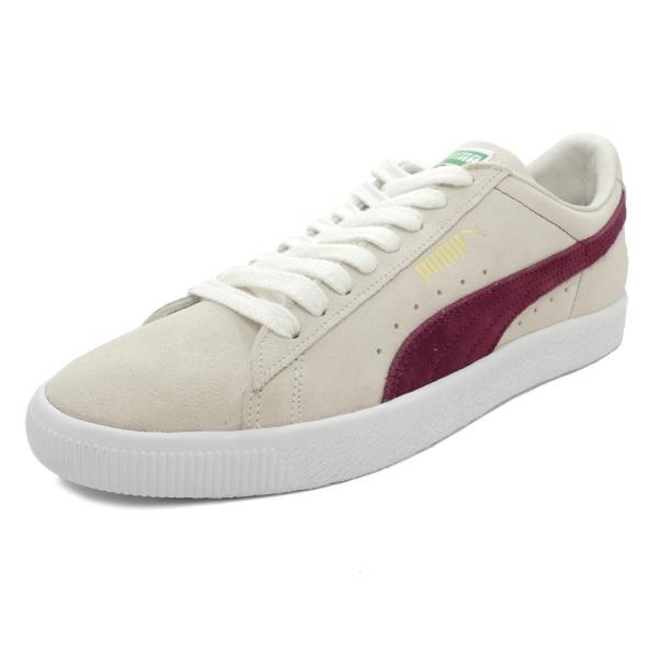 スニーカー プーマ PUMA スウェード90681 ホワイト/ポメグラネイト メンズ レディース シューズ 靴 18FA|pistacchio