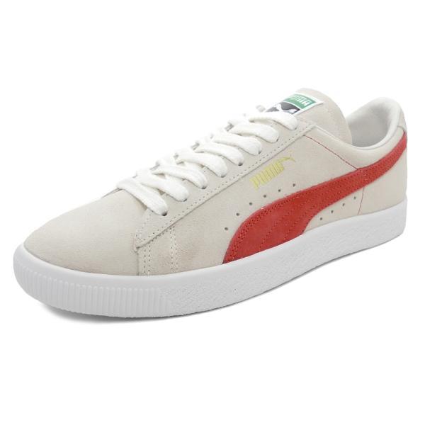 スニーカー プーマ PUMA スウェード90681 ホワイト/オレンジ メンズ レディース シューズ 靴 18FA pistacchio