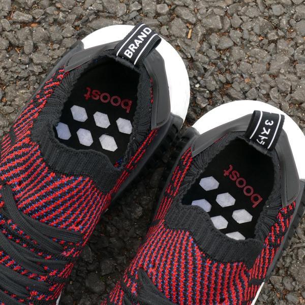 adidas Originals NMD R1 STLT PK 【アディダス オリジナルス エヌエムディーR1STLTPK】 core black/red-sld/blue (コアブラック/レッド/ブルー)  CQ2385 18SS|pistacchio|05
