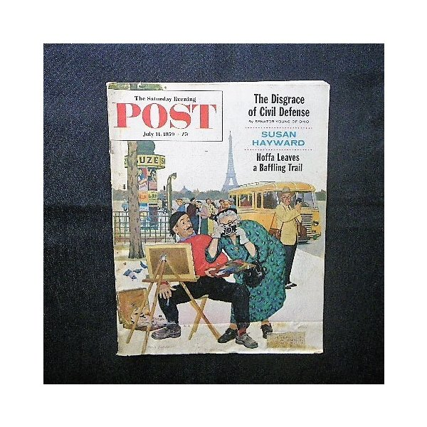 1959年 The Saturday Evening Post■Dick Sargent 表紙 Edwin Georgi/Walter Skor/Sam Bates■アンティーク広告 クライスラー/コルゲート