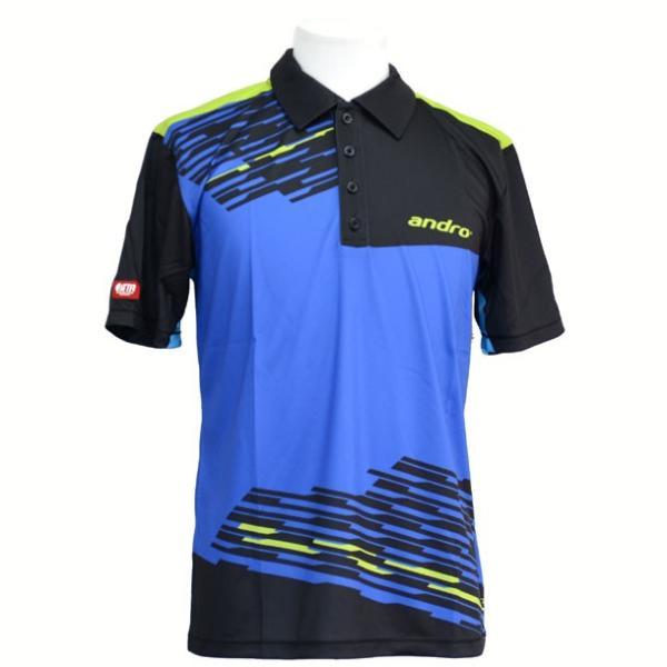 アンドロルーク ダージリンブルー/ブラック andro アンドロ●タッキュウゲームシャツ(30225913サ)