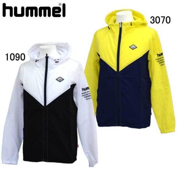 ウーブンジップパーカーhummelヒュンメル ウィンドブレーカーシャツ(HAW1003OT)