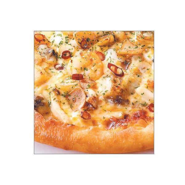 ピザ 冷凍ピザ シーフードペペロンチーノピザ(オリーブオイル、ニンニク、赤唐辛子)職人の手作り ピザ生地 ピザ・シティーズ トマト チーズ