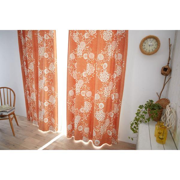 DESIGN LIFE 北欧デザイン遮光カーテン(1枚)HANAKAZARI ハナカザリ(100×135)ウォッシャブル 形状記憶加工 日本製 スミノエ|plaisier|03