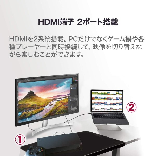 LG ゲーミング モニター ディスプレイ 27UL500-W 27インチ/4K/HDR(標準輝度:300cd/m2)/IPS非光沢/HDMI×2、DisplayPort/FreeSync/ブルーライト低減|plaisir|07