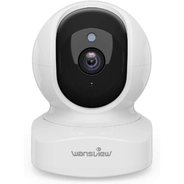 ネットワークカメラ WiFi IPカメラ ワイヤレス屋内防犯カメラ 1080P FHD 200万画素 ベビー 老人 ペット見守り