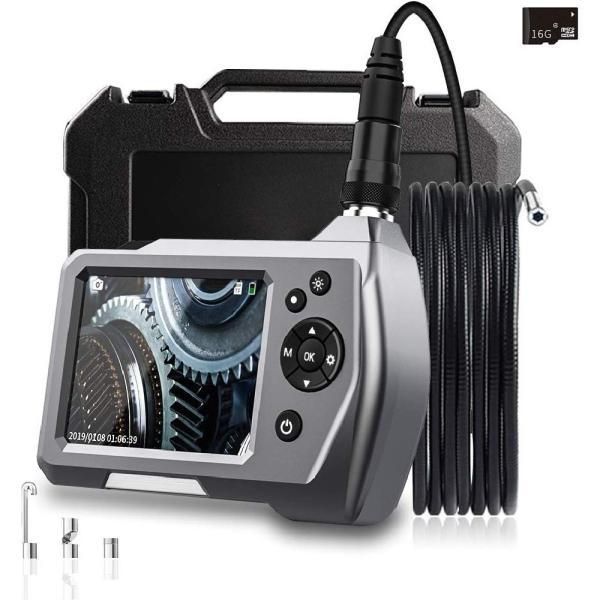 ファイバスコープ デジタル内視鏡 4.5インチIPS スクリーン ファイバースコープ スネークカメラ 3m 5.5mm直径カメラ 内蔵32Gメモリーカード