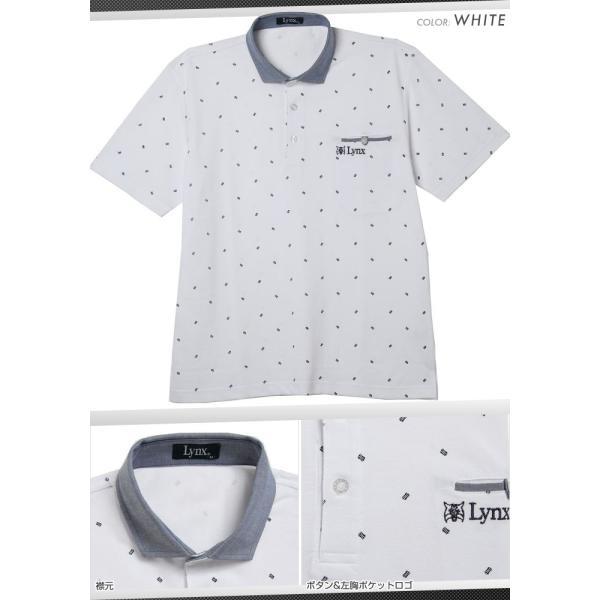 Lynx リンクス ポロシャツ メンズ ゴルフウェア 半袖 ゴルフウエア ハーフジップ ゴルフ スポーツウェア カジュアルウェア 宅 送料無料 lx143804|planet-c|05