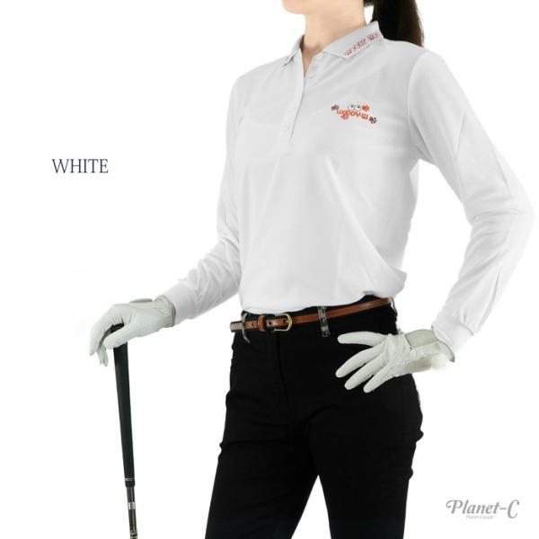 Planet-C WoodyWorld ポロシャツ レディース 吸汗速乾 ゴルフ テニス ウォーキング スポーツウェア 仕事着 軽作業 鹿の子 ロゴ 送料無料 pc-603 planet-c 05