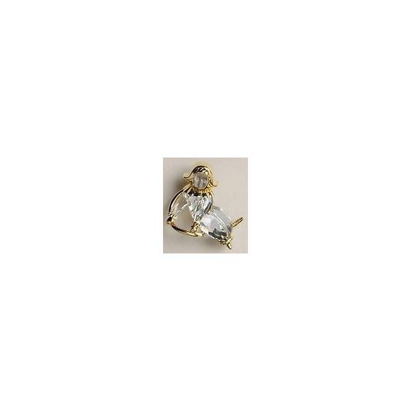 スワロフスキー Swarovski 2001年 廃盤品 『Moon Child Swinging ブローチ』 235899