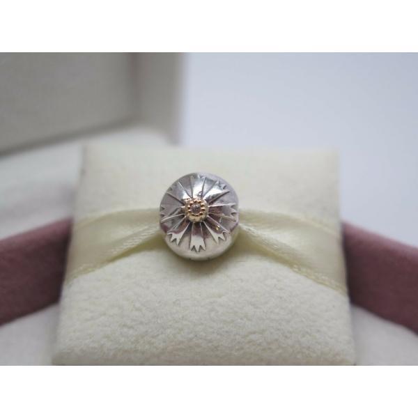 Pandora パンドラ チャームクリップ Friendship Flower Grommet w/14Kt Gold Charm Clip 花