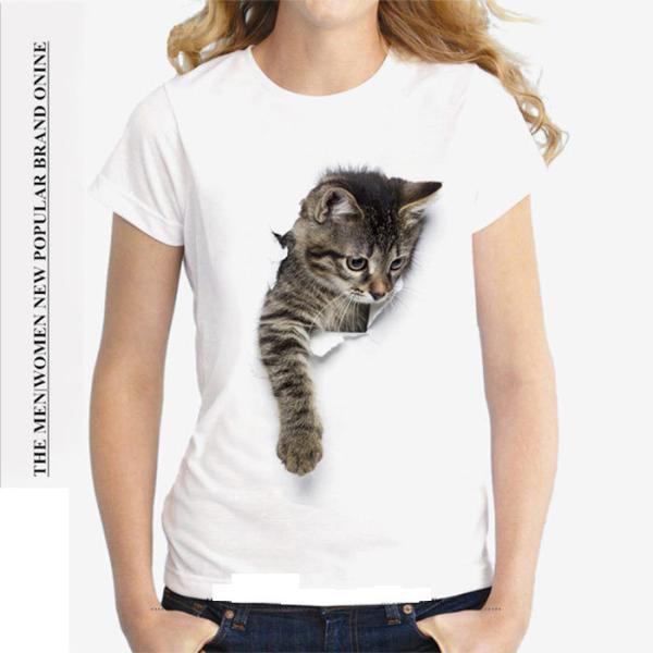 猫猫柄Tシャツメンズレディース半袖tシャツかわいいアニマル柄プリント動物キャラクタートップス男女兼用全店2点