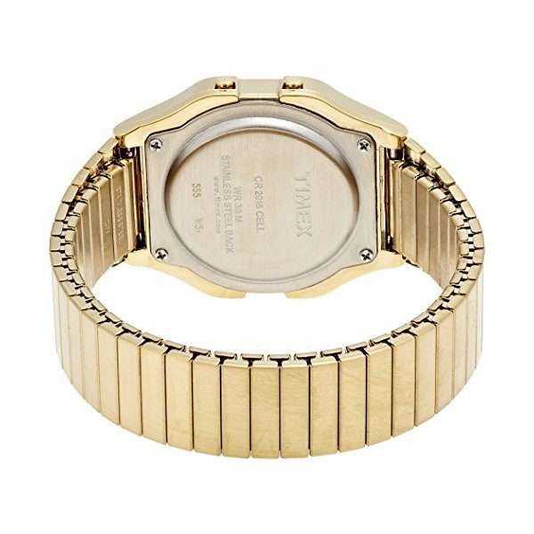 当店1年保証 タイメックスTimex Men's T78677 Classic Digital Gold-Tone Stainless Steel Expansion Band Watch|planetdream|02