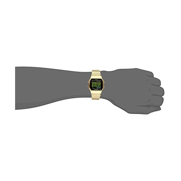 当店1年保証 タイメックスTimex Men's T78677 Classic Digital Gold-Tone Stainless Steel Expansion Band Watch|planetdream|04