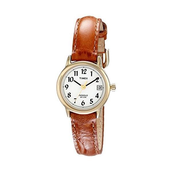 当店1年保証 タイメックスTimex Women's T2J761  Indiglo Leather Strap Watch, Honey Brown/Gold-Tone|planetdream