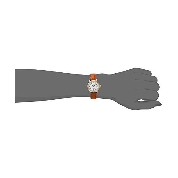 当店1年保証 タイメックスTimex Women's T2J761  Indiglo Leather Strap Watch, Honey Brown/Gold-Tone|planetdream|02