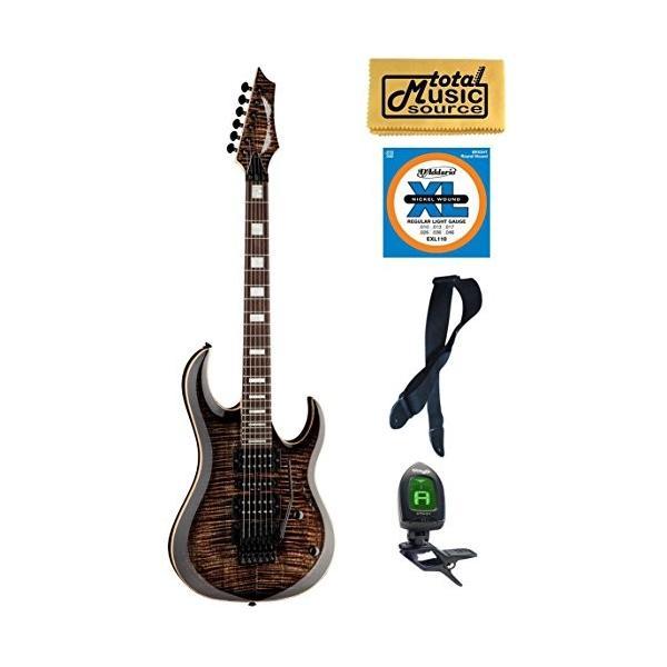 ディーンDean Guitars MAB3 FM TBK Michael Batio Flame Top Solid-Body Guitar, Trans Black, Bundle|planetdream