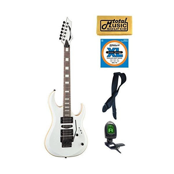 ディーンDean Guitars MAB3 CWH Michael Batio Solid-Body Guitar, Classic White, Bundle|planetdream