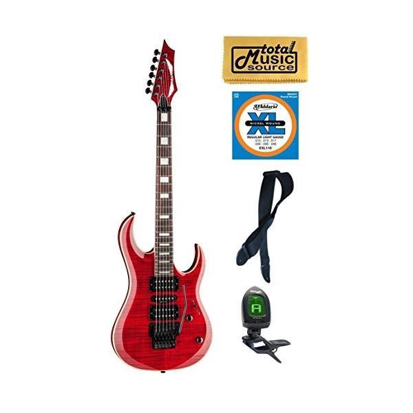 ディーンDean Guitars MAB3 FM TRD Michael Batio Flame Top Solid-Body Guitar, Trans Red, Bundle|planetdream