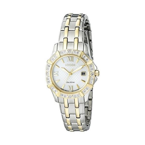 【当店1年保証】シチズンCitizen Women's 'Diamond' Quartz Stainless Steel Casual Watch (Model: EW2364-50A) planetdream