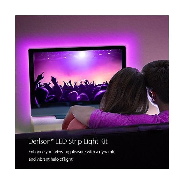 プロジェクターランプBias Lighting for TV. Derlson LED Strip Lights/USB Backlight Kit for Home-Theater,Under Cabinet, Mon|planetdream|03