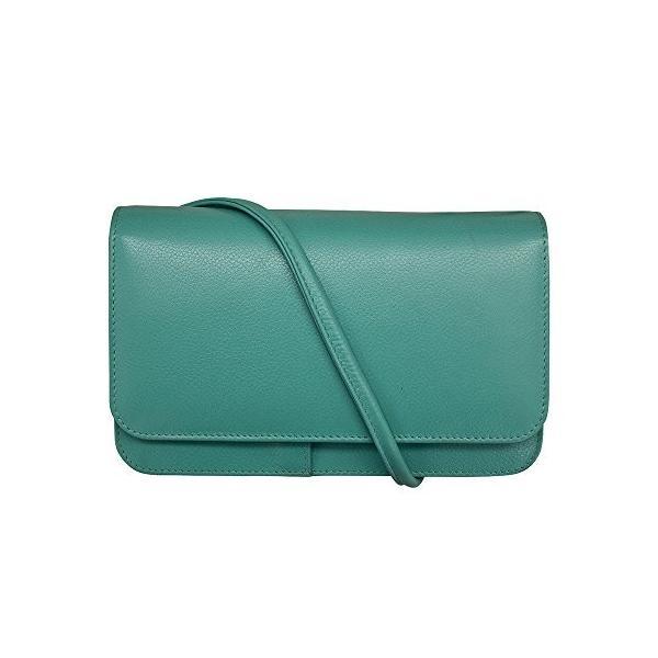 ILIILI LEATHER CROSS BODY SHOULDER MINI BAG WITH ORGANIZER (turquoise)