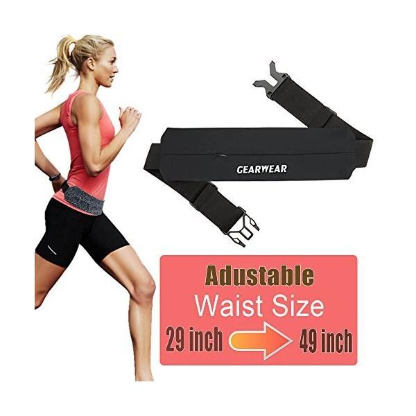 海外正規品GEARWEAR Running Belt Workout Waist Bag Pack for iPhone 7 X 8 6 Plus Man Woman/Lightweight Phone Runners Belt for W|planetdream|04